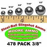 478 pack 3/8' Steel-Ball slingshot ammo (3-3/4 lbs)