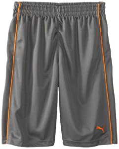 Puma - Kids Boys 8-20 Piped Short, Grey/Orange, Medium