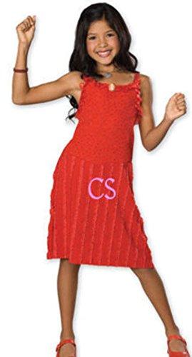 [NWT-Girls HSM High School Musical Gabriella Red Dress Halloween Costume-S] (Hsm Costumes)