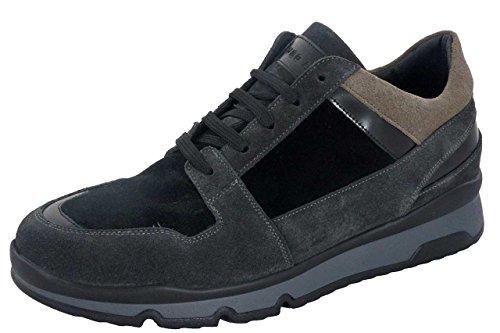 Ugo Arci - Sneakers - Ugo Arci Uomo - 46B/636/85NP - 45, Nero-Piombo-Antilope