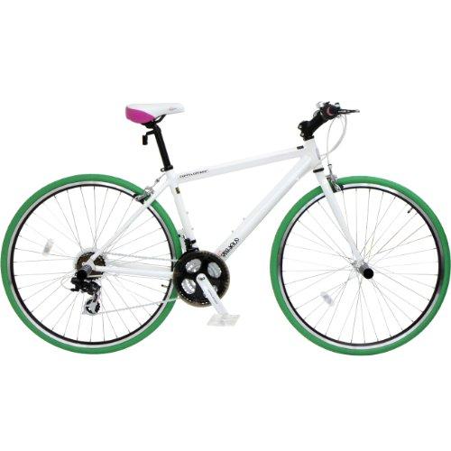 DOPPELGANGER(ドッペルギャンガー) 401 amadeus 700C アルミフレーム クロスバイク シマノ21段変速 LEDライト/ワイヤーロック標準装備
