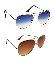 Aventus Combo of Summer Blue & Red Aviator Unisex COMS02S03