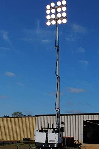 Larsonelectronics Larson Electronics Mega Light Tower - 16 X 1500W Mh - 2,400,000 Lumens- 50' Height - Trailer Mounted