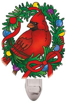 Night Light-NL432R-Holiday Cardinal - 1