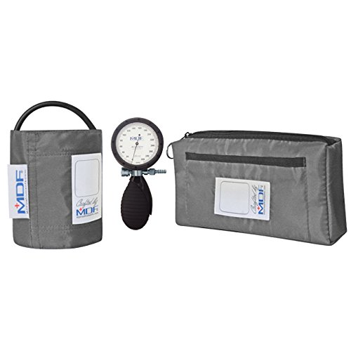 MDF® Bravata Palm Aneroid Sphygmomanometer - Professional Blood Pressure Monitor with Adult Sized Cuff Included - Grey (MDF848XPD-12) (Welch Allen Blood Pressure Kit compare prices)