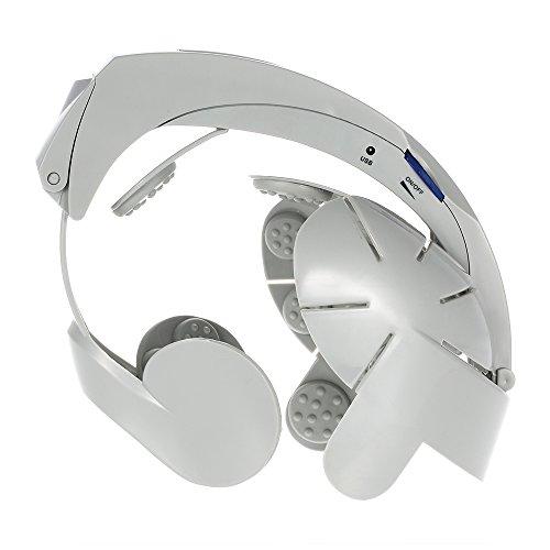 Anself Electric Head Massage & Relax Brain Acupuncture Points Stress Release Easy-brain Massager Machine Vibration Massage