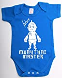 Future muay thai master funny kickboxing babygrow suit unique baby shower gift baby vest clothes