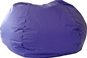 Gold Medal 30008446817 Small Leather Look Bean Bag for Children, Purple from Hudson Beanbags