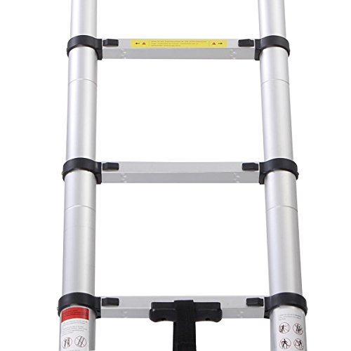 En131 Std. 16.5 Ft Aluminum Telescopic Telescoping Collapsible Ladder Extension