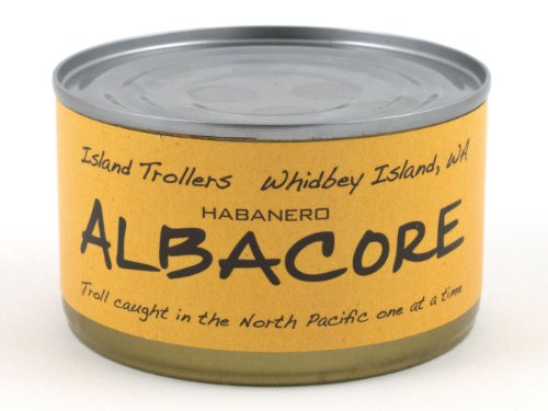 Albacore Tuna Troll Caught Dolphin Safe Sashimi Grade North Pacific Habanero 212 g 7.5 oz