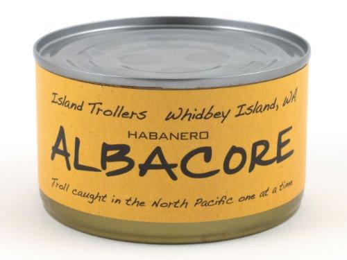 Albacore Tuna Troll Caught Dolphin Safe Sashimi Grade North Pacific Habanero 212 g 7.5 oz