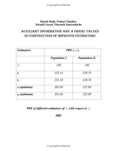 Auxiliary Information And A Priori Values In Construction Of Improved Estimators