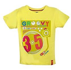 Vitamins Baby Boys' T-Shirt (08Tb-708-1-M.Green_Light Green_1 - 2 Years)