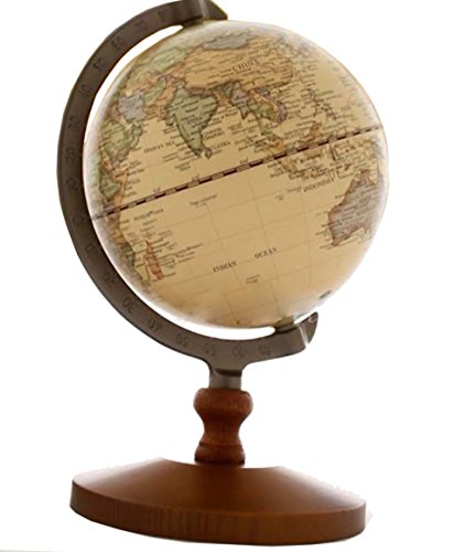 VStoy Vintage Reference World Globe Home Work Decor Wedding Educational Gift 14cm 0