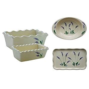 Arousing Appetites Handpainted Lavender Ceramic Cookware