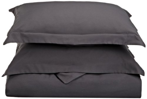 For Sale! Clara Clark Premier 1800 Series 3pc Duvet Cover King Size, Charcoal Gray