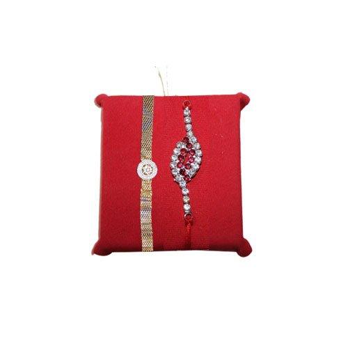 mandala-creations-2-premium-stone-auspicious-rakhi-set-with-haldirams-soan-papdi-set