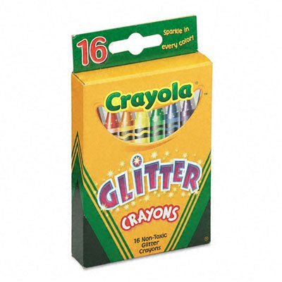 Glitter Crayons 16-Pack back-1019423