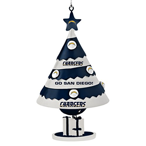 NFL San Diego Chargers Tree Bell Ornament