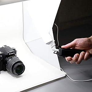 Foldio2 Plus (15 All-in-one Portable Foldable Light Photo Shooting Studio Box with LED Lights) by ORANGEMONKIE (Tamaño: Foldio2 Plus)