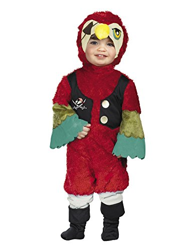 Disguise Infant & Toddler Boys Plush Red Pirate Parrot Costume 12-18 Months