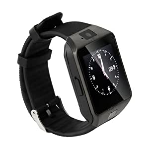 Black Bluetooth Smart Watch DZ09 Smartwatch GSM SIM Card For All Smasung Galaxy Smartphones