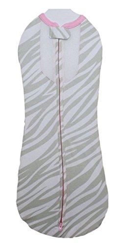 Woombie Air, Gray Zebra/Pink Trim, Big Baby 14-19 Lbs