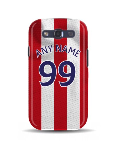 Samsung Galaxy S3 'Stoke City 2013/2014 Season' Personalised Football Soccer Shirt 3D Phone Case Cover