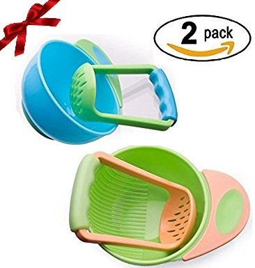 Sterify Mash and Serve Bowl for Making Homemade Baby Food- (2 Pack) (Baby Food Mashing Bowl compare prices)
