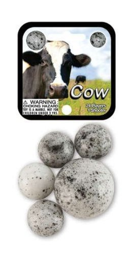 Glass Mega Marbles Cow Game Net Set (25 Piece)