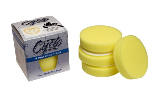 Cyclo (72-135x4-4PK) Yellow Fine Foam Cutting Pad with Loop, (Pack of 4) (Acrylic Scratch Removal compare prices)