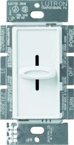 Lutron Electronics Co. SFS-5E-WH White Skylark Fully Variable 5 Speed Fan Control, White
