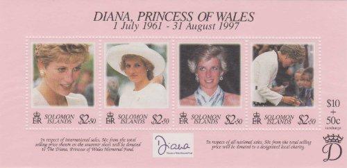 Diana, Princess Of Wales Solomon Islands 1998 #867 A-D