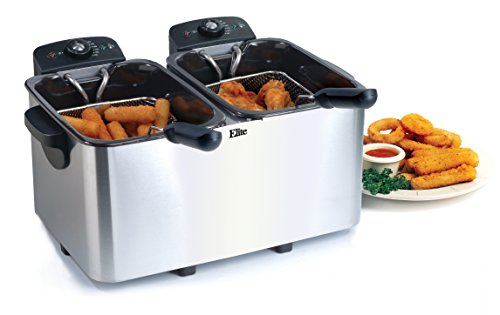 Elite Platinum EDF-4080 Maxi-Matic 8 Quart Deep Fryer, Stainless Steel (Electric Pressure Fryer compare prices)