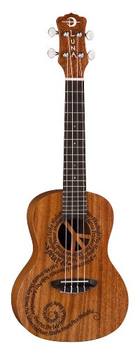 Luna Ukulele Malu Concert with Gig Bag