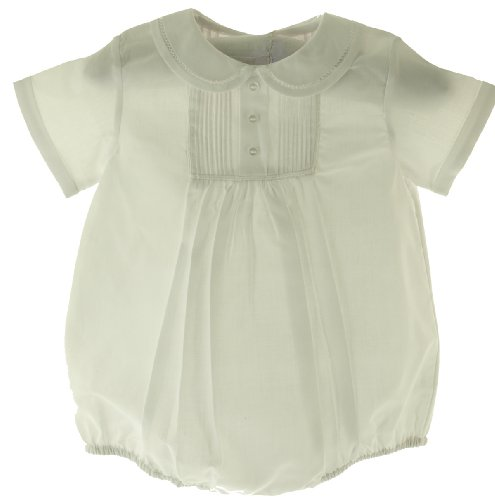 Feltman Brothers Newborn Boys White Dressy Christening Baptism Bubble Outfit front-716389
