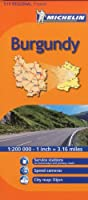 Michelin Map Burgundy, France