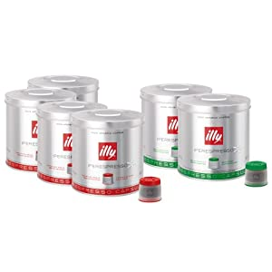 Choose illy Iperespresso 126 Coffee Capsules - Mixed Case, Classic & Decaffeinated by illy