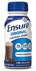 Ensure Regular Nutrition Shake, Chocolate, 8-Ounce, 16 Count