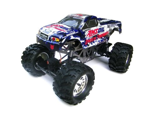 Redcat Racing Ground Pounder 3-Channel Electric Monster Truck, Amsoil, 1/10 Scale