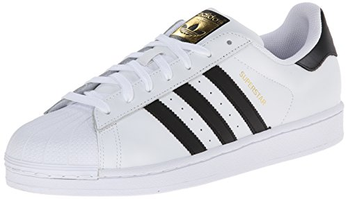 Adidas Originals Men's Superstar Foundation Casual Sneaker, White/Core Black/White, 9 M US
