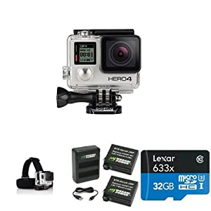GoPro HERO4 SILVER Starter Bundle