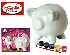 Toyrific paint your own piggy bank pink toys games art for Create your own piggy bank