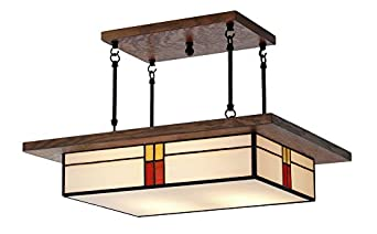 craftsman light fixture mission style lighting for dining rooms and