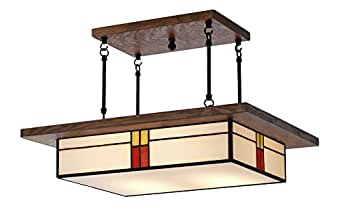 Craftsman Light Fixture Mission Style Lighting For Dining Rooms And Kitchen