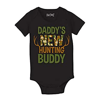.com: Daddy's New Hunting Buddy Camo Camoflauge Deer Antlers Funny