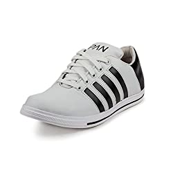PAN Mens G40 WHITE Synthetic Leather Casual Shoe-10 UK