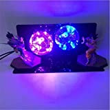 Dragon Ball Z Son Goku Vegeta Table Lamp Double Spirit Bomb Led Light Bulb Gift Lighting (Purple & Blue) (Color: Purple)