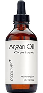 Poppy Austin® 100% PURE ARGAN OIL for Hair and Skin. An Exquisite, Luxurious and Triple Purified Moroccan Argan Oil, Made by Hand, Cold Pressed and Responsibly Sourced using the only the very Finest yet Sustainable Organic Argan Nuts. See IMMEDIATE Results from this Extremely Lightweight, Delicate, and Quick to Absorb Natural Oil. For Soft, Silky, Hydrated Hair, Free From Frizz and Split Ends, and Smooth, Plump, Younger Looking Skin and Nails. This Sublime, Multi-Purpose Argon Oil is also Incredibly Effective at Treating Acne, Psoriasis, and Stretch Marks. Certified and Approved Organic. Three Months Supply in Just One Bottle. Guaranteed To Make You Smile