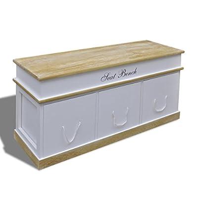 Truhe Schuhtruhe Schuhschrank Bank Sitzbank Speicherbank von vidaXL bei Gartenmöbel von Du und Dein Garten